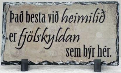 Mynd Myndasteinn - Það besta við heimilið ...