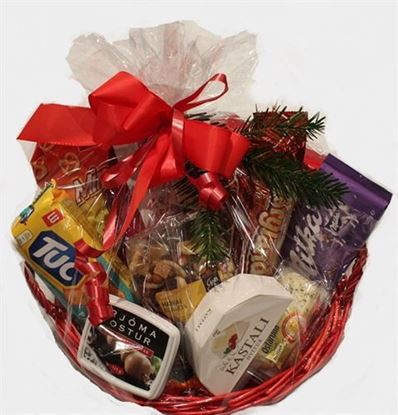 Picture of Gift basket - Chocolate- Cheese-Nuts gift hamper.