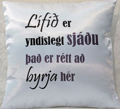 Picture of Decorative Throw Pillow- Life is ...