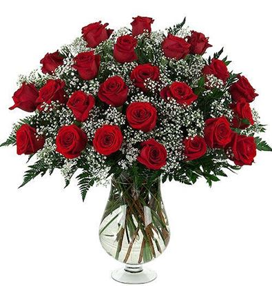 Picture of Make your own Romantic Grand bouquet featuring 55-60cm red roses, baby´s breath and more.
