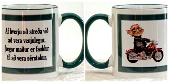 Picture of Coffee / Tea Mugs with quotes for special him-why to settle....