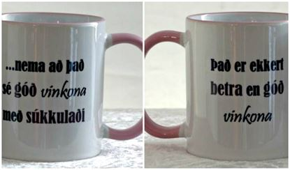 Picture of Coffee / Tea Mugs with quotes-Girlfriend 1