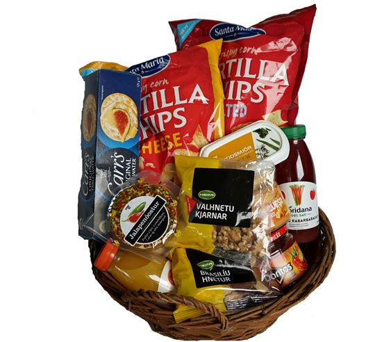 Picture of Snack- Cheese-Nuts-Gift basket