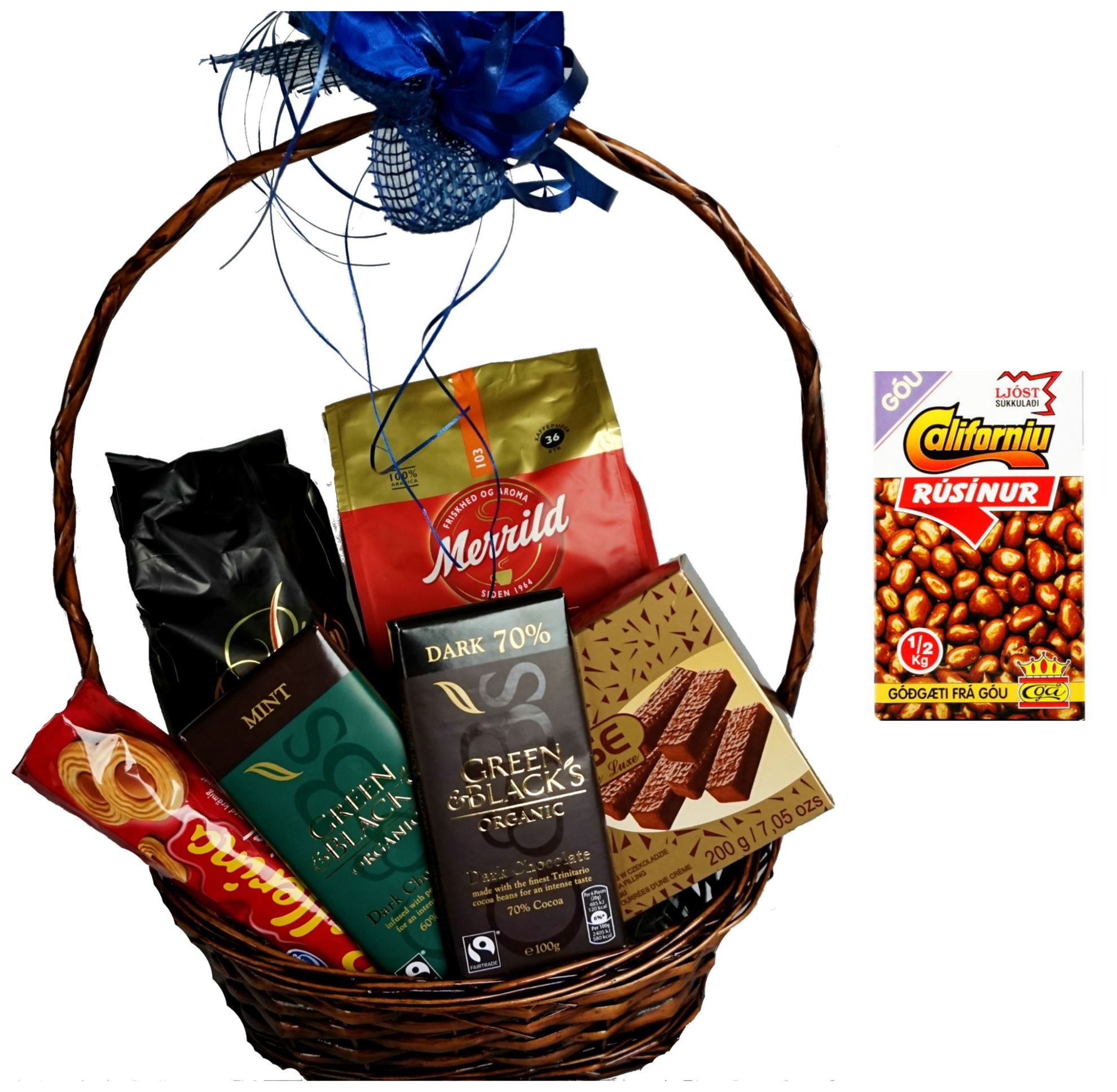 Picture of Coffee and chocolate time Gift basket-coffee and chocolate Hamper .