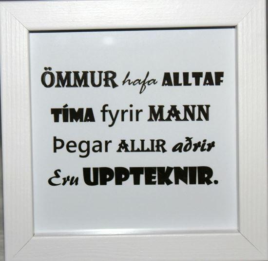 Mynd Fallegir textar í römmum - amma 1