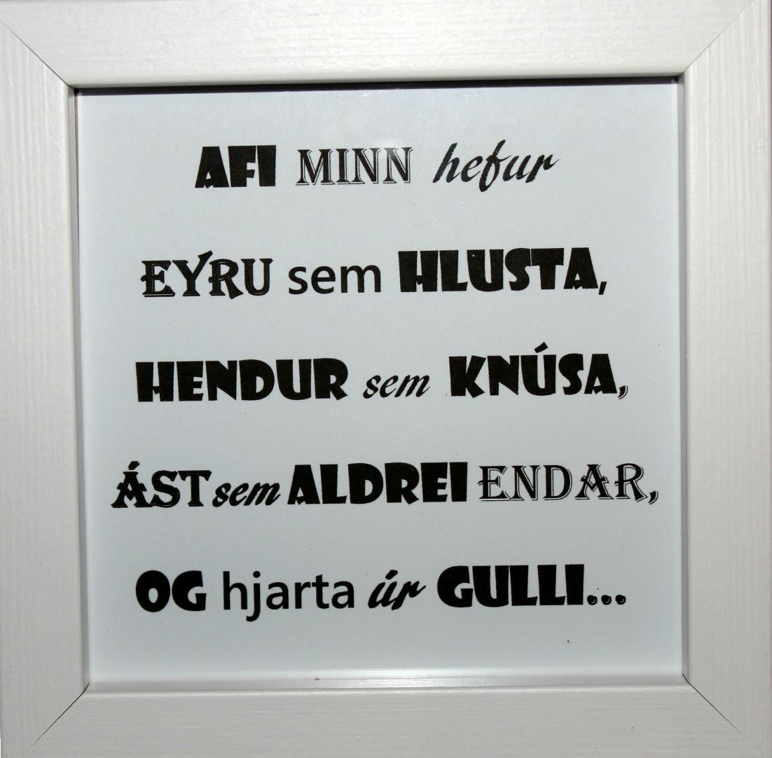 Beautiful quotes in picture frames - Grandfather 2   Í Húsi Blóma ...