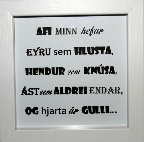 Mynd Fallegir textar í römmum - Afi minn-2