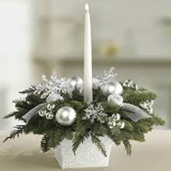 Picture of Christmas decoration with candle