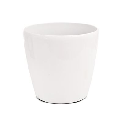 Picture of Ceramic pot white -15cm