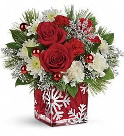 Picture for category Christmas flower and candle arrangement