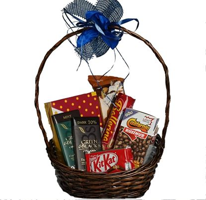 Picture of Chocolate time-Gift basket gift for everybody who likes sweets.