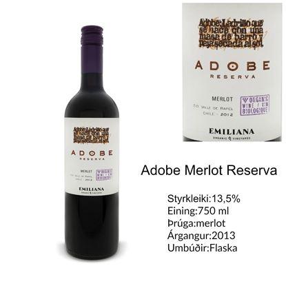 Mynd Adobe Merlot Reserva rauð vín.