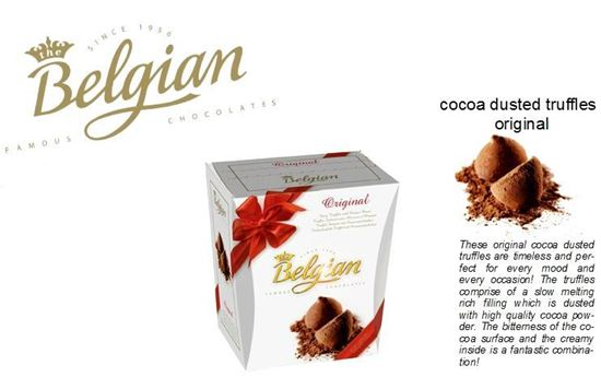 Picture of An original cocoa dusted Belgian chocolate  truffles-125g.