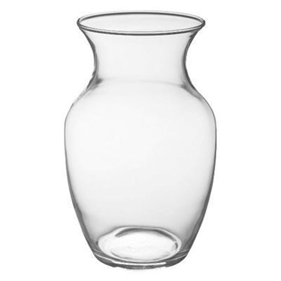 Picture of Clear Vase- H-18 cm suitable for low round bouquets