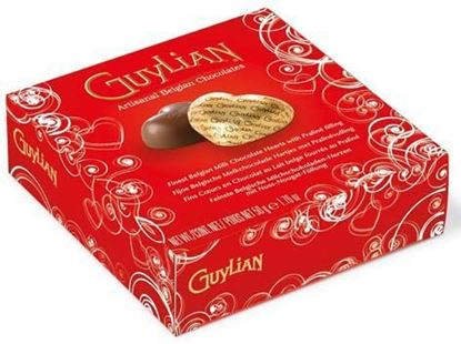 Picture of Guylian  Belgian chocolate box with chocolate hearts- 4 pcs.
