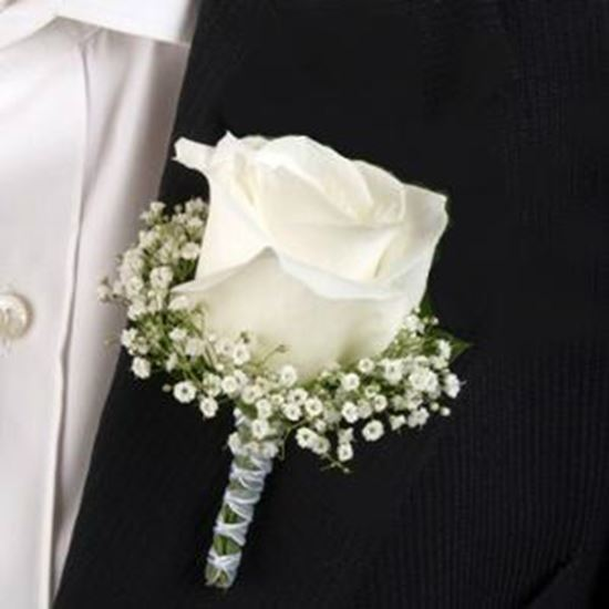 Picture of Groomsmen's boutonniere matching wedding bouquet n.25