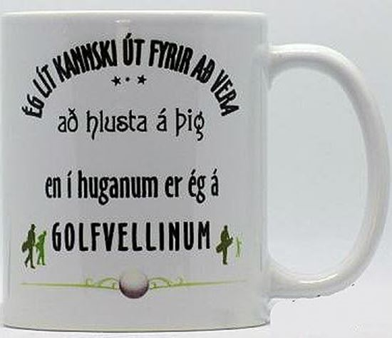 Picture of Coffee / Tea Mugs with funny quote for person who likes golf.