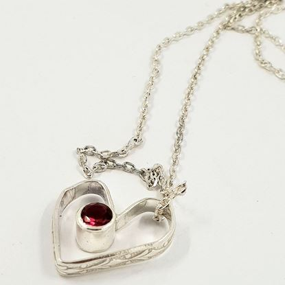Picture of An Icelandic designed real silver jewelry-heart for your loved one.