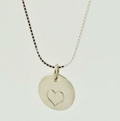 Picture of An Icelandic designed real silver jewelry- hand-made silver heart.