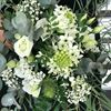Picture of Natural Woodland Wedding bouquet in white, cream and all shades of greens.