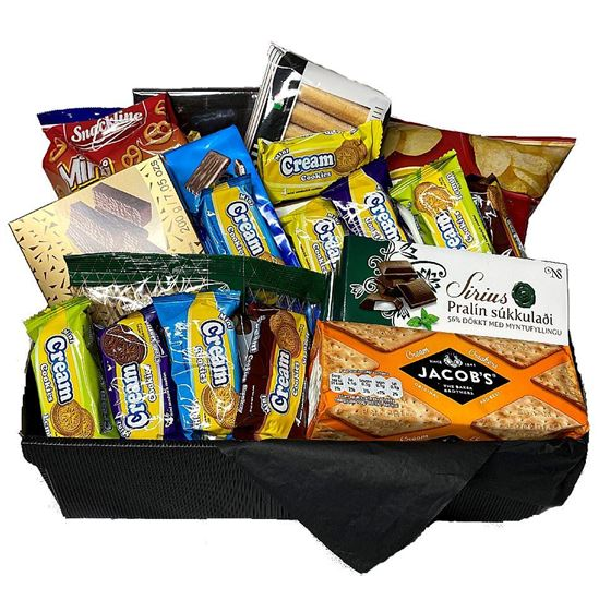 Picture of Perfect Giftbasket of goodies for team partners of five.