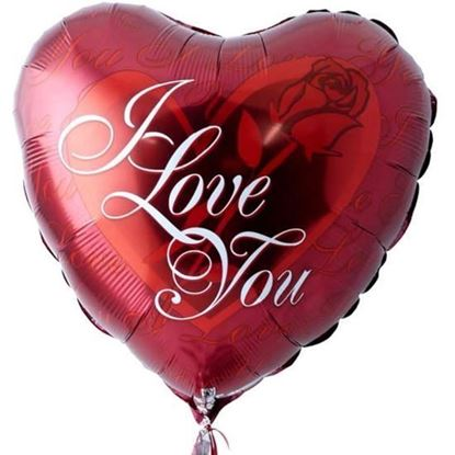 Picture of A helium filled balloon that say's I Love You.
